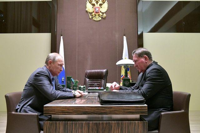 Владимир Путин и Александр Михайлов встречались в Сочи в 2017 году.
