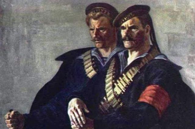 Богородский Ф.С. «Они штурмовали Зимний» 1957 (фрагмент)
