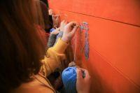Школьники создали арт-объект из ниток «Я люблю тебя. Тюменская область»