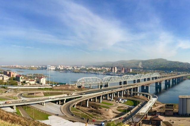 Как будет выглядеть улица Волочаевская и съезд с моста через Енисей после завершения строительства, на видео