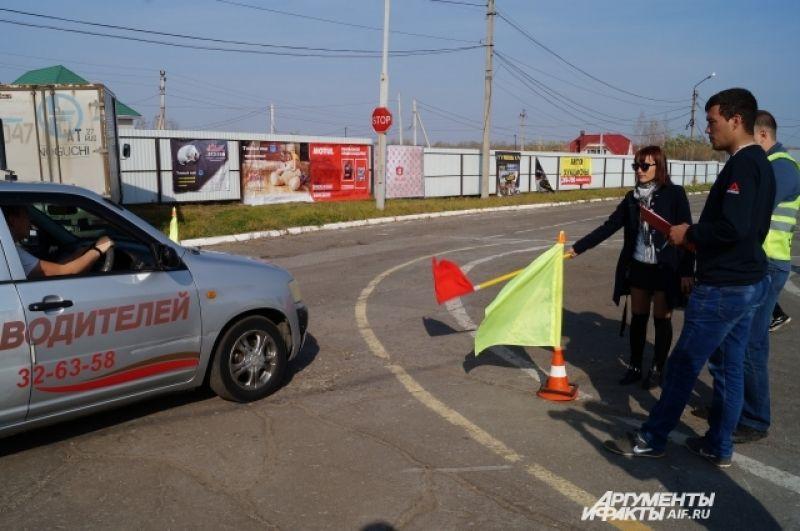 Для чистоты соревнований все участники проходили испытания на одной машине.
