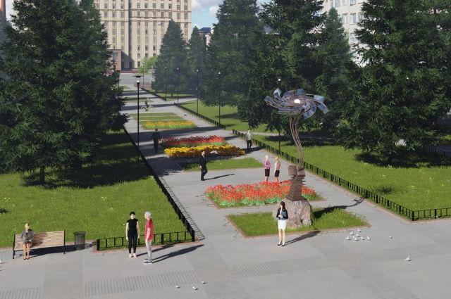 Студентка ЮУрГУ Анна Чистякова разработала для сквера проект скульптуры «Познание Вселенной».