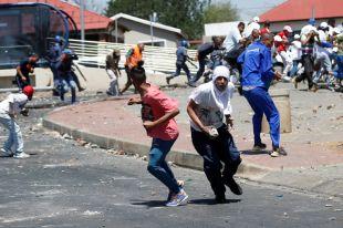 Протесты в Йоханнесбурге.
