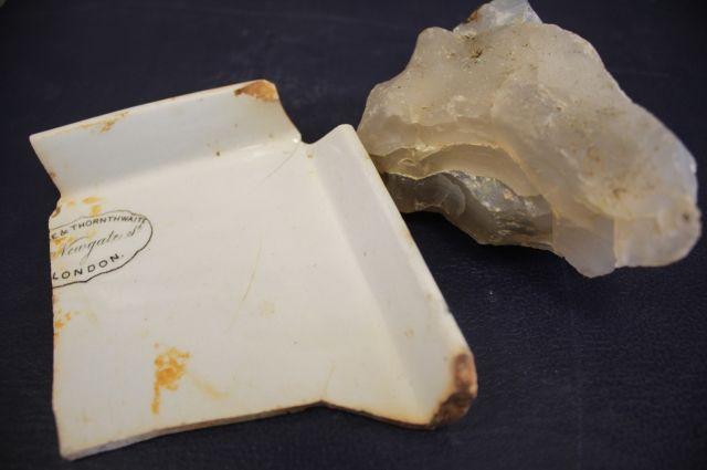 Идентифицировать яхту помогли осколки керамики. На одном из них сохранилась надпись «Лондон».