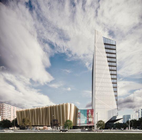 На углу улицу Попова и Монастырской предполагается построить первый в Перми пятизвёздочный отель высотой 80 метров.
