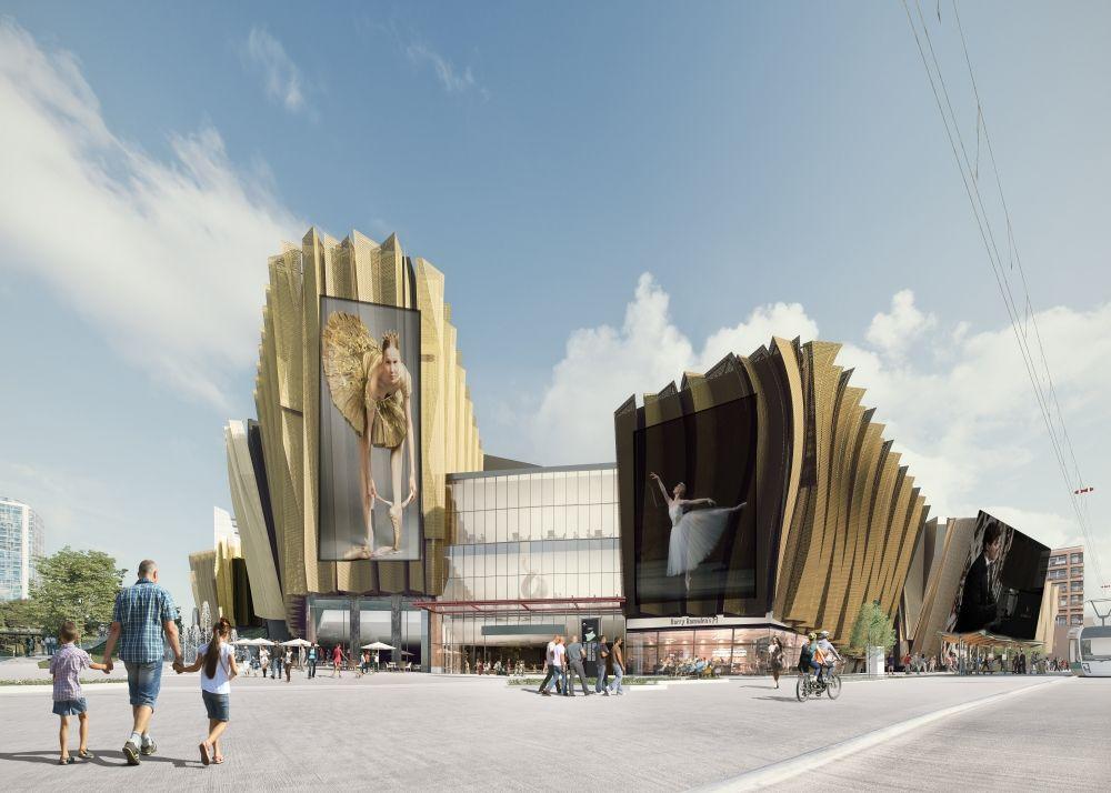 Перед главным входом, который планируется сделать на пересечении улиц Попова и Петропавловской, будет площадь.