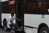 Водители красноярских автобусов провели пятиминутную акцию протеста