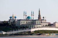 Башня Сююмбике - архитектурная доминанта Казанского кремля.
