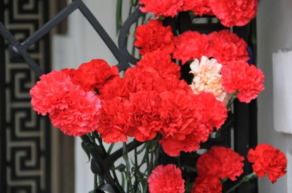 Цветы приносят уже второй день.