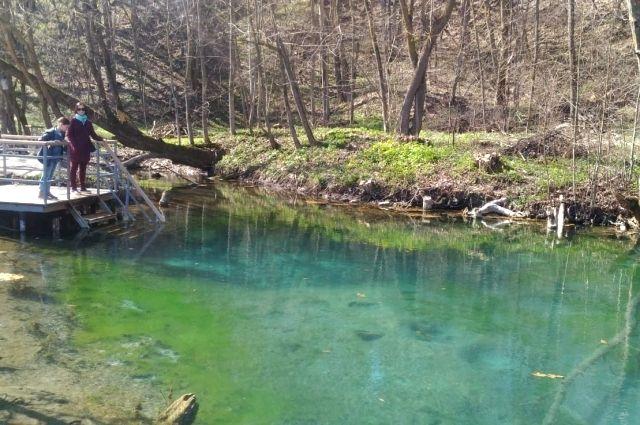 Голубые озера - еще один вид дикого отдыха. Только в Высокогорском районе.
