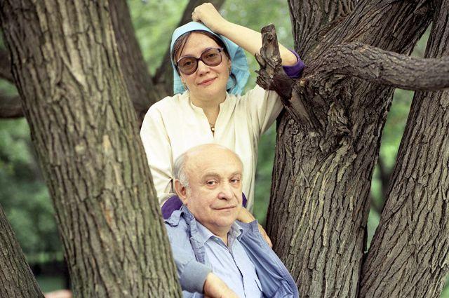 Елена Санаева и Ролан Быков.