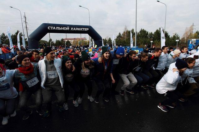 1200 тюменцев участвовали в забеге «Стальной характер – Кросс»