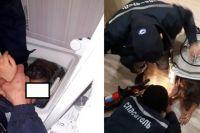 В Тюмени девочка застряла в стиральной машине - подробности спасателей