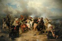 «Битва при Лютцене, смерть короля Густава Адольфа 16 ноября 1632 года». Эпизод Тридцатилетней войны. Художник Карл Вальбом.
