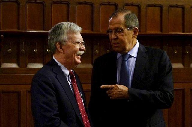 Лавров и Болтон обсудили в Москве ряд актуальных вопросов, в том числе и ситуацию в Украине
