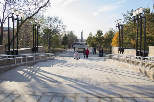 Открытие первой очереди бульвара Победы в Омске