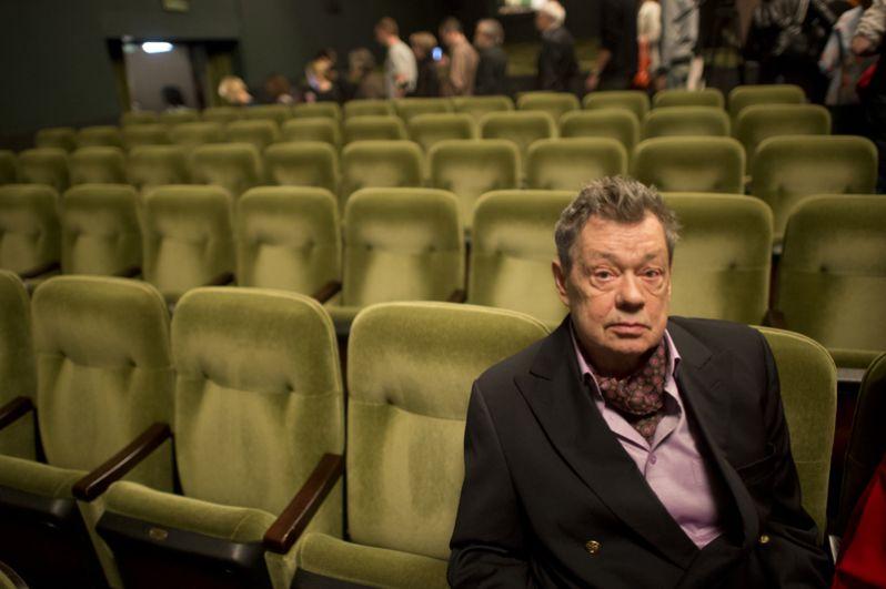 Актер Николай Караченцов во время сбора труппы театра «Ленком». 2012 год.