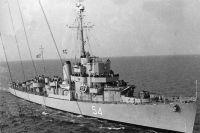 HNS Leon D-54, ранее USS Eldridge DE-173, в эксплуатации, 1960 год.
