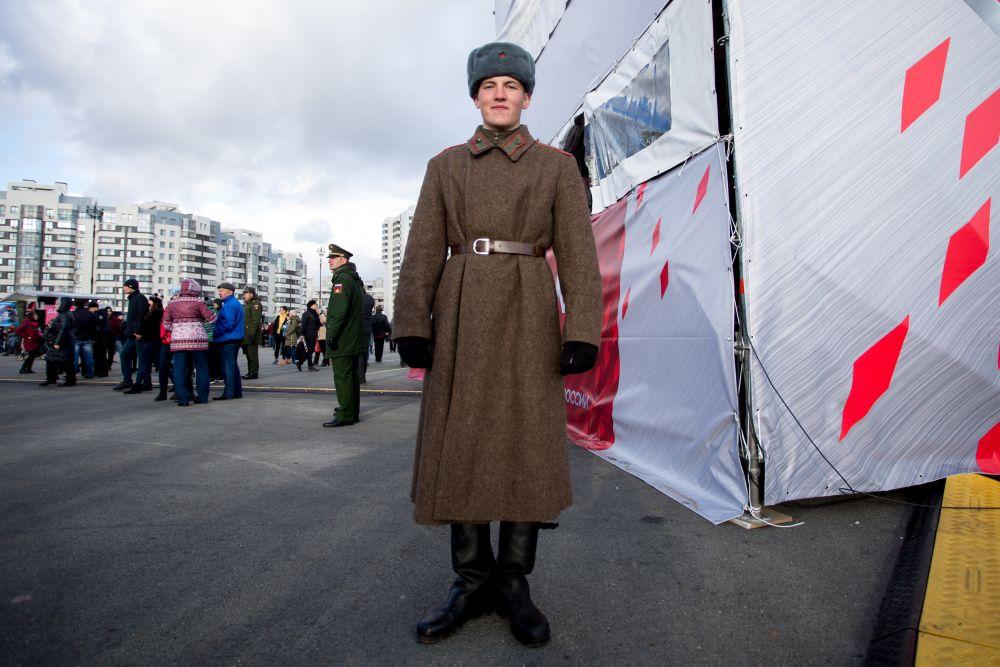Современный российский солдат.