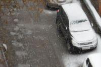 Снег в Омске