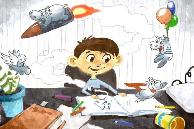 Кадр из мультфильма «Песни бегемотов», реж. Алексей Галкин.