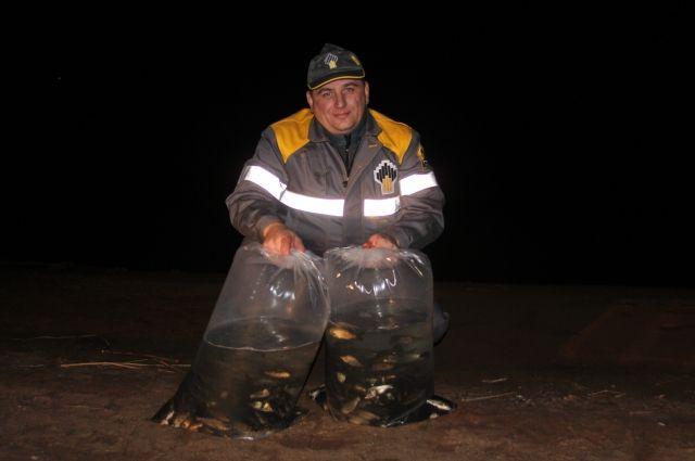 Более пяти тысяч мальков выпустили в Сорочинское водохранилище сотрудники ПАО «Оренбургнефть».