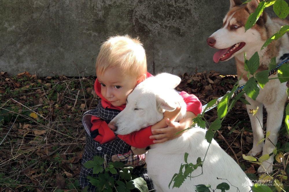Мальчик и собака.