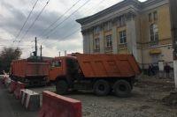 Ремонт дорог в Симферополе.