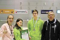 Призёры чемпионата Елизавета  Костарева и Даниил Хомяков (в центре).