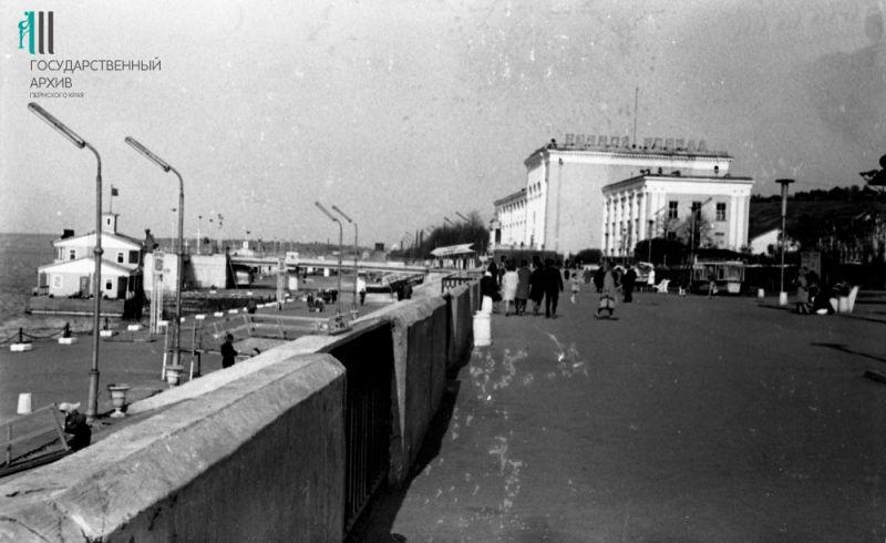 Вид на Речной вокзал, 1967 год.