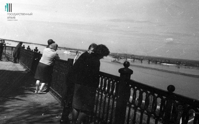 Набережная, вид на Каму, 1950-е годы.
