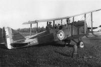Британский самолёт под Двинским Березником.