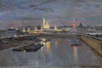 Исаак Ильич Левитан. Иллюминация Московского Кремля в честь коронации Николая II, 18 мая 1896.