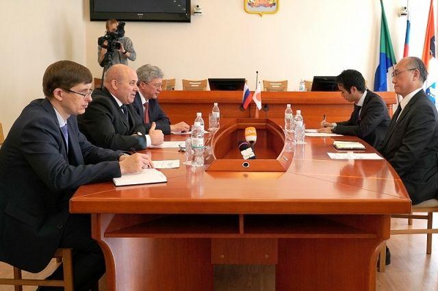 Встреча состоялась в администрации города.