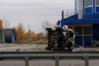 Жуткое ДТП в Киеве: автомобиль на полном ходу врезался в пост полиции