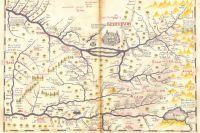 Карта Ремезова 1701 г. - одна из тех, по которым ориентировались первые рудознатцы, навещавшие Кузбасс.