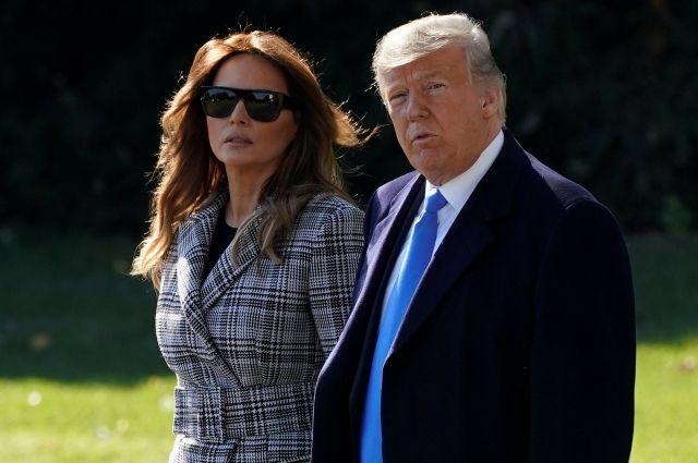 Трамп иего супруга преждевременно  проголосовали навыборах в съезд  США
