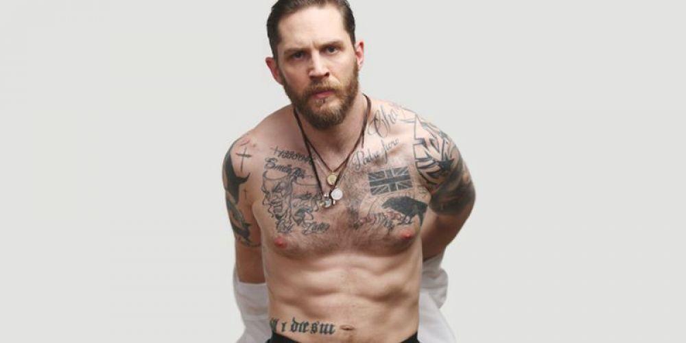 """Том Харди, номинант на премию """"Оскар"""", также радует хорошей подготовкой. А еще - татуировками и бородой."""