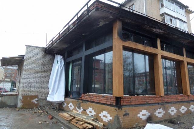 Площадь пожара составила 30 квадратных метров.