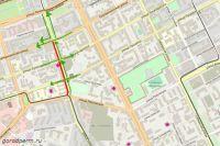 Схема организации движения по улице Куйбышева.