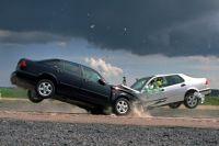 В аварии столкнулись шесть машин.
