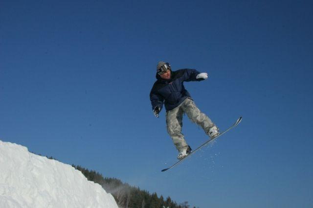 В большинстве южноуральских ГЛК есть специальные трассы для сноубордов.