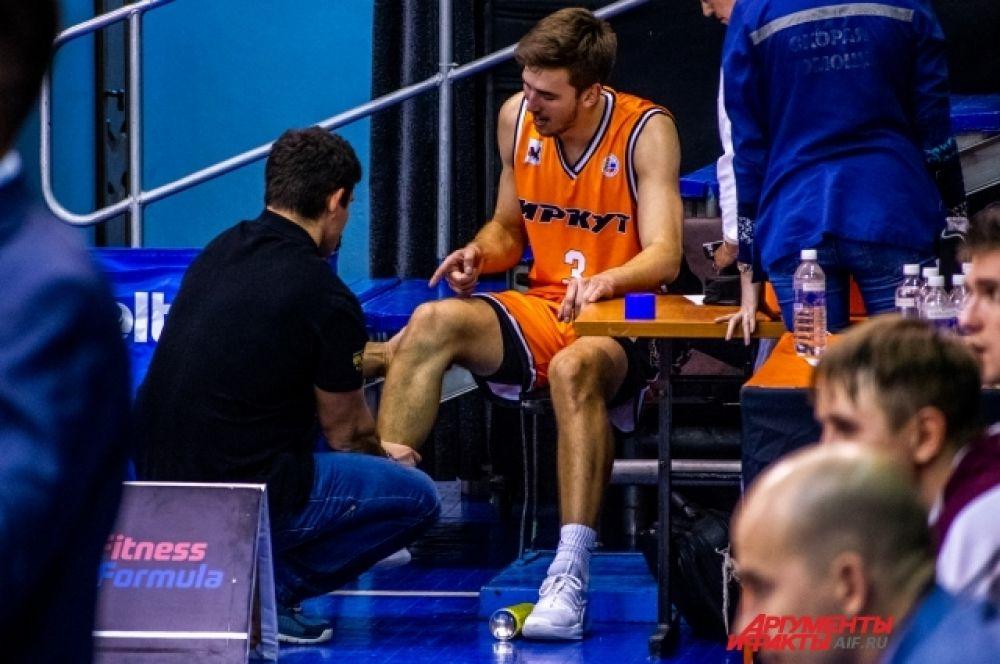 Во время противостояния с «Зенитом» разыгрывающий «Иркута» Дмитрий Бубнов получил серьёзную травму.