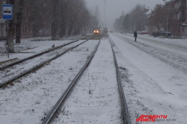 Трамвай зимой