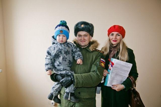 В Оренбурге 130 семей военнослужащих получили ключи от новых квартир.