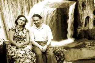 Абдурахман Абсалямов и его муза - жена Магинур.