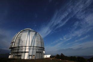 Большой телескоп азимутальный (БТА) на территории Специальной астрофизической обсерватории Российской академии наук.