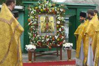 У кельи блаженного Павла в переулке Тургеневском, где он жил, состоялось богослужение.