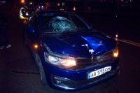 Водитель авто хотел уйти от столкновения и начал резко тормозить, но авария все же произошла.
