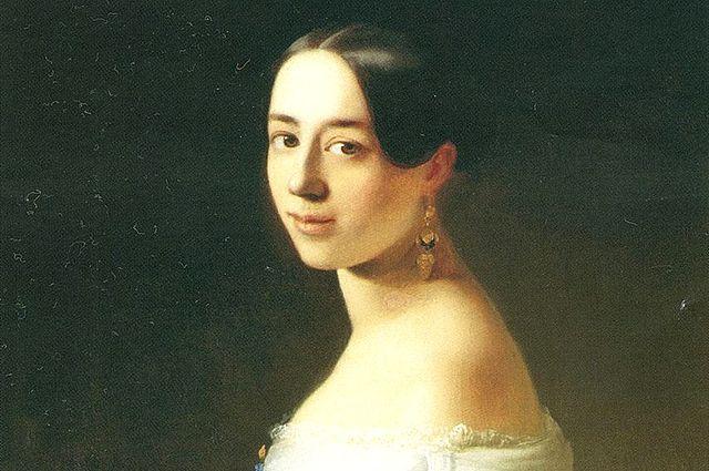Полина Виардо кисти художника Т. А. Неффа, 1842 год